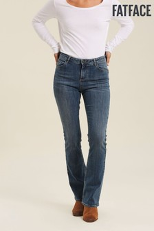 FatFace Blue Selsey Boot Cut Jeans