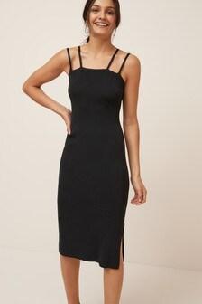 Square Neck Strappy Dress