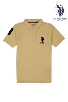 U.S. Polo Assn. Yellow Player 3 Polo Top