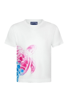 Vilebrequin Boys White Cotton Turtle T-Shirt