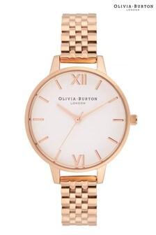 Olivia Burton White Dial Silver & Rose Gold Bracelet Watch