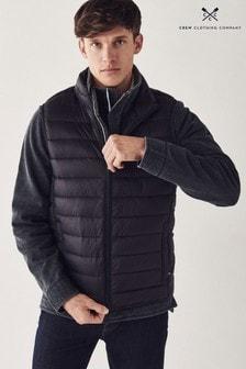 Modrá ľahká prešívaná vesta Crew Clothing Company