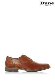 Dune London Benefit Tan Leather Lace Up Gibson Shoes