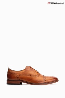Base London® Tan Cast Washed  Lace Up Brogues