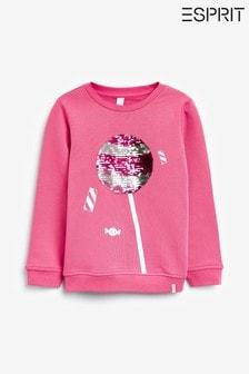 Esprit Pink Sequin Lollipop Sweatshirt