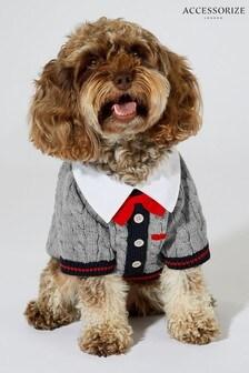 Accessorize Grey Preppy Dog Jumper