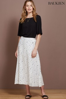 Baukjen White Mia Wrap Skirt