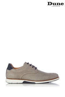 Dune London Bicker Grey Nubuck Lace Up Gibson Shoes