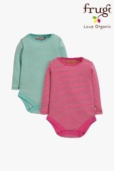Frugi Organic Long Sleeve Bodysuits Two Pack