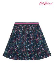 Cath Kidston® Blue Pleated Skirt