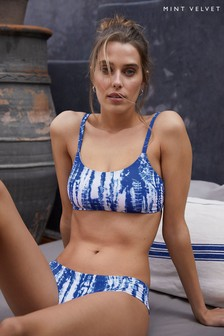 Mint Velvet Tie Dye Ruched Side Bikini Briefs