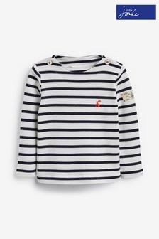 Joules White Harbour Stripe Jersey Top
