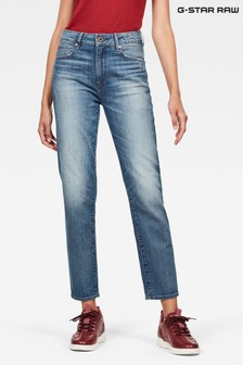G-Star Blue 3301 High Straight 90's Ankle Jeans