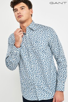 GANT Blue Putty Paisley Print Regular Shirt