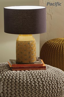 Assisi Etch Detail Stoneware Table Lamp by Pacific Lighting