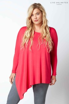 Live Unlimited Pink Asymmetric Jersey Poncho