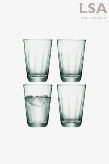 Set of 4 LSA International Mia High Ball Glasses