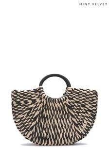 Mint Velvet Lula Woven Basket Bag