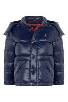 Baby Boys Navy Padded Jacket