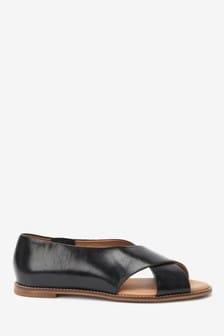 Leather Peep Toe Shoes
