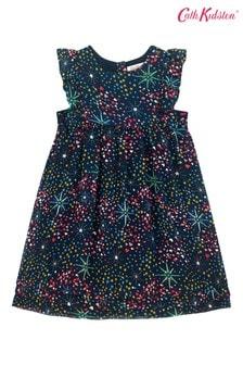 Cath Kidston® Blue Frill Bib Dress