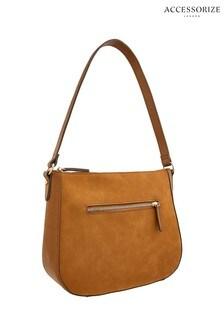 Accessorize Tan Chain Hobo Bag