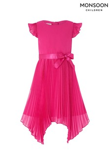 Monsoon Children Pink Rubina Pleat Dress
