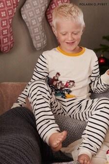 Polarn O. Pyret Natural GOTS Organic Chip 'N' Dale Pyjamas