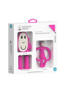 Matchstick Monkey Pink Teething Starter Set