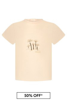 Chloe Kids Girls Pink Cotton T-Shirt