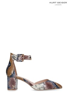 Kurt Geiger London Animal Snake Print Court Shoes