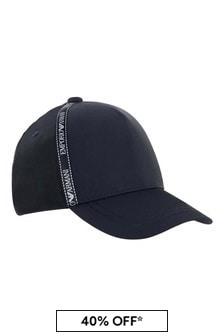 Emporio Armani Boys Navy Blue Logo Cap