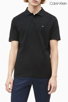 Calvin Klein Black Refined Pique Slim Polo