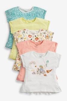 5 Pack Cotton T-Shirts (3mths-7yrs)