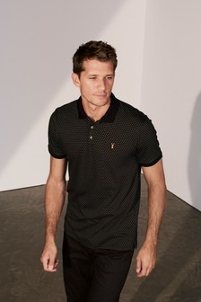 Regular Fit Pattern Poloshirt