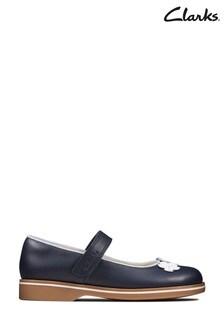Clarks Blue Finch Bloom K Shoes