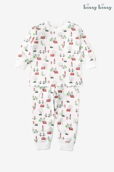 Kissy Kissy White London Landmarks Pyjama Set