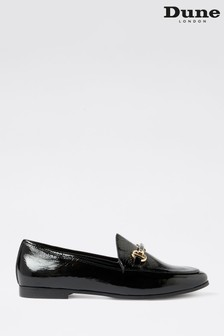 Dune London Guiltt 2 Black Patent Leather Snaffle Loafers