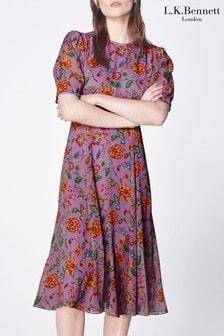 L.K.Bennett Garland Floral Silk Dress