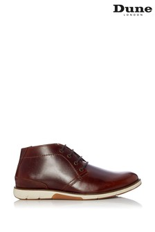 Dune London Collide Tan Leather Chukka Boots