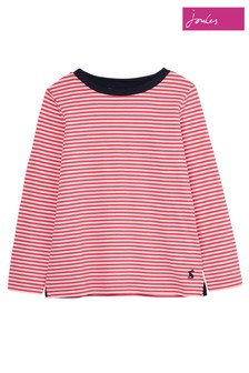 Joules Pink Pascal Long Sleeve Top