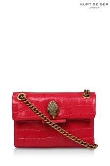 Kurt Geiger London Red Croc Leather Mini Kensington Bag