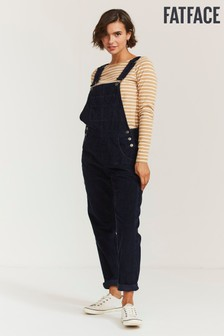 FatFace Blue Lewes Cord Dungarees