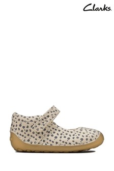 Clarks White Tiny Mist T Shoes