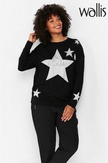 Wallis Black Star Print Jumper