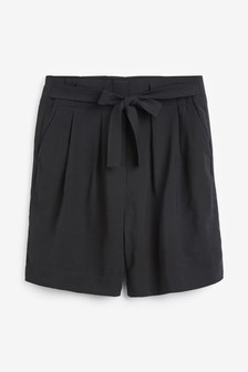 High Waist Bermuda Shorts