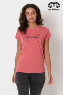 Animal Mineral Lowgo Grafik-T-Shirt, rot