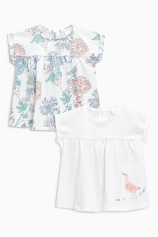 Easter gifts clothing decorative accessories next uk white duck and floral t shirts two pack 0mths 2yrs negle Choice Image