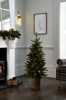 4ft Snowy Lit Christmas Tree