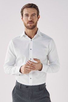 Shirt With Floral Trim And Pocket Square Set